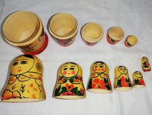 6 Matriochkas poupées russes gigognes vintage