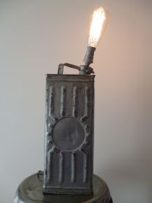 "LAMPE D'AMBIANCE "" BIDON A CARBURANT "" VINTAGE"