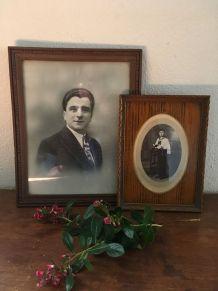 Deux belles photos anciennes en noir et blanc.