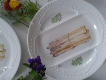 6 jolies assiettes plates porcelaine livraison gratuite