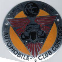 PLAQUE DE CALANDRE EMAILLEE AUTOMOBILE CLUB COMTOIR