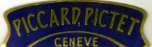 PLAQUE DE CALANDRE EMAILLEE PICCARD PICTET