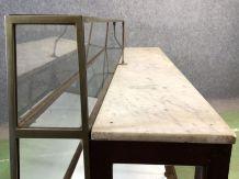 Comptoir de pâtisserie en acajou datant du début du XXème