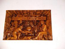 Tableau en bois en relief
