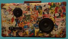 Valises musicales avec collage original