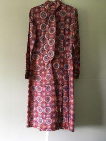 Robe chemisier taille 38 col lavallière début années 70