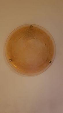 Lampe applique en pâte de verre