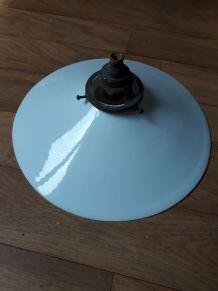 Suspension Vintage en Opaline Blanc