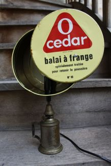 "LAMPE A POSER RECUP' ""O CEDAR"""