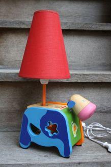 """LAMPE DE CHEVET ENFANT RECUP' """"VACHE & FORMES"""""""