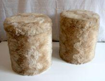 Poufs « moumoute » (lot de 2) – circa 70