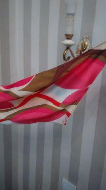 Foulard soie coloré