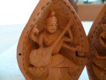 Autel temple bouddhiste portatif vintage