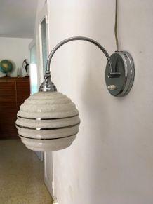 Lampe applique Art Déco vintage années 30