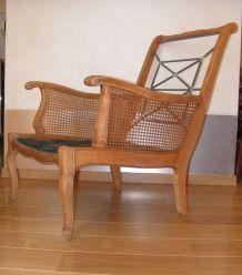 fauteuil ancien accoudoirs cannés