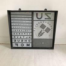Test d'ophtalmologie vintage 50's