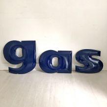 Lettres émaillées GAS vintage 40's