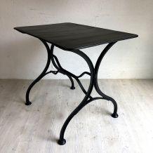 Table de jardin vintage 50's en métal noir