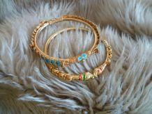 Deux bracelets indiens ou bangles - fantaisies -