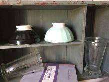 Ancien verre gradué, verre mesureur MOUGIN, cuisine
