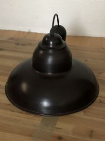 Plafonnier loft industriel noir