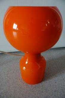 Lampe Tobrouk vintage 70's opaline orange