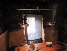 Lampe industrielle/suspension lumineuse recyclée