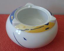 Cendrier en porcelaine de Limoges