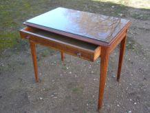 Ancien petit bureau 1 tiroir, bois massif
