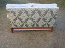 Canapé 2 places en bois massif et tissus  convertible