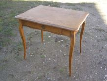 Ancien petit bureau, 1 tiroir  Bois massif