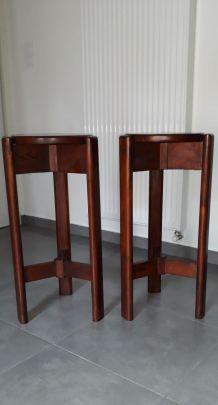 Paire /2 tabourets tripodes époq. vintage design scandinave