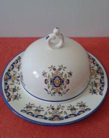 Beurrier / confiturier en porcelaine.