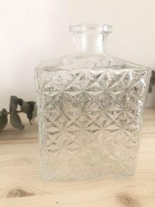 Ancienne bouteille Whisky verre moulé