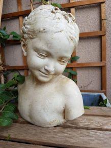 """buste plâtre """"la florentine"""" dite """"la rieuse"""""""