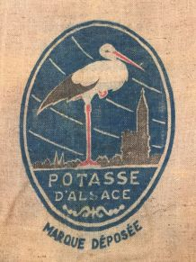 Sac en chanvre - Potasse d'Alsace - Cigogne