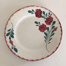 6 assiettes plates Moulin des Loups, vaisselle ancienne