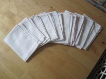 10 serviettes de table  en coton anciennes  38 cm x 28 cm