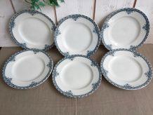6 assiettes plates anciennes
