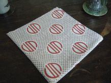 Taie d'oreiller Vintage 70'S motifs géométriques