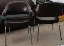 """Paire de fauteuils, chaises type """"Eero Saarinen"""""""