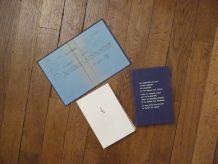 Poemes - Lettres - Cartes Postales- Jules Mougin- 1960
