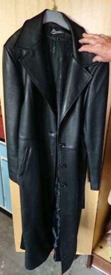 Manteau en simili cuir