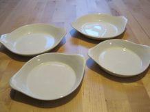 4 petits plats en porcelaine pour cuisine   années 50/60