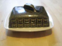 beurrier en faience anglaise vintage