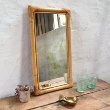 Miroir vintage en rotin