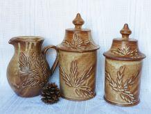 Pots de cuisine en grès / pots en grès céramique.