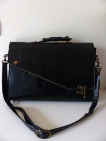 Sac porte-documents en cuir vintage