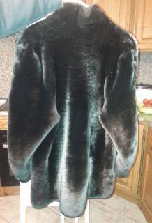 veste fourrure mouton doré