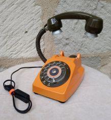 "LAMPE A POSER RECUP' VINTAGE ""TELEPHONE 6"""